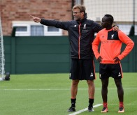LIVERPOOL, ENGLAND - JULY 12: (THE SUN OUT, THE SUN ON SUNDAY OUT) Jurgen Klopp manager of Liverpool with Sadio Mane during a training session at Melwood Training Ground on July 12, 2016 in Liverpool, England. (Photo by John Powell/Liverpool FC via Getty Images)